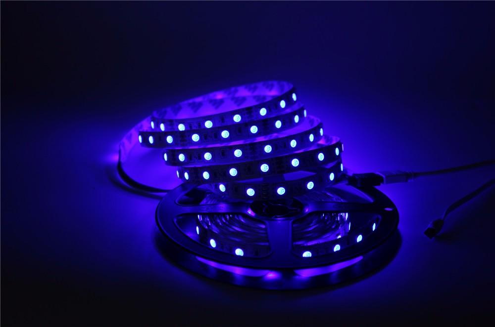 5050 RGB LED Strip Non-Waterproof / Waterproof 5M 300 Led Strip Light Fita Led String + 44 Key IR Remote + DC 12V 3A Power Kit