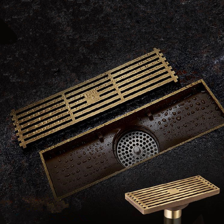 Bathroom Floor Drain : Cm euro style antique brass bathroom linear