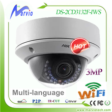hik 3MP wireless wifi IP camera DS-2CD3132F-IWS POE two way audio  replace DS-2CD2132F-IWS & DS-2CD2132F-IW wi fi CCTV security(China (Mainland))