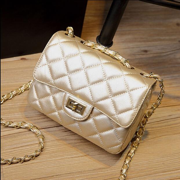 High Quality Women Shoulder Bag Chain Cc Brand Fashion Lambskin WOC Mini Flap Bag Women Single Chain Genuine Leather bag 20CM(China (Mainland))
