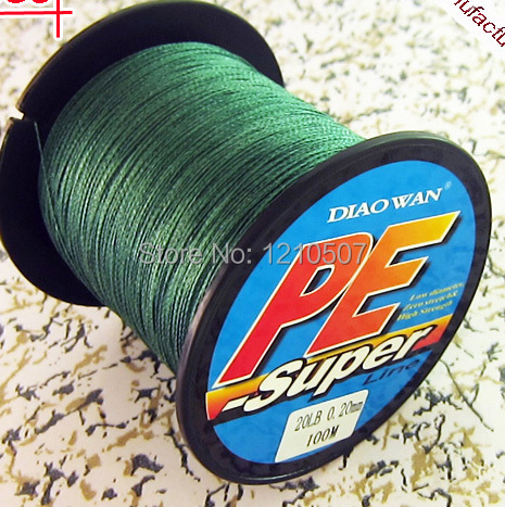 10pcs/lot 8/10/15/20/30/40/50/60/70/80LB 100M 4 StrandsStrong 100% PE Multifilament Braided Fishing Line Wholesale Supplier(China (Mainland))