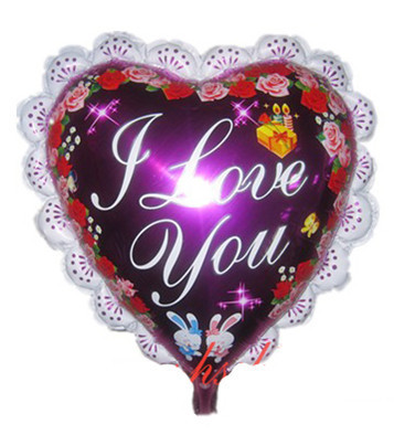 wholesale 1pcs/lot red 23'' big foil balloons for wedding decoration Love balloons for Valentine day(China (Mainland))