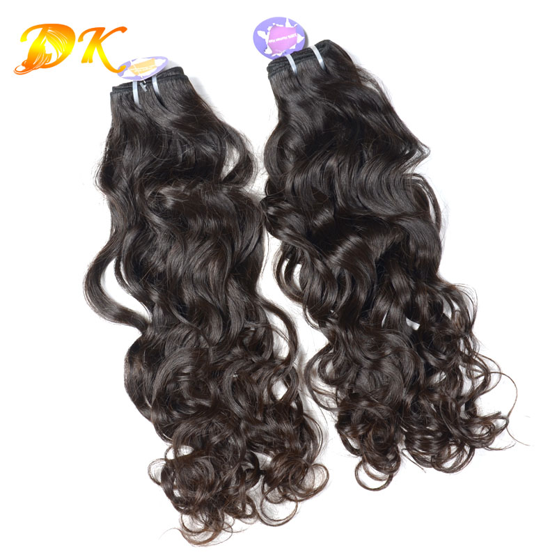 perfect lady hair products 2pcs/lot Indian virgin human remy hair 6A natural wave good quality hot selling 100% unprocessed hair<br>