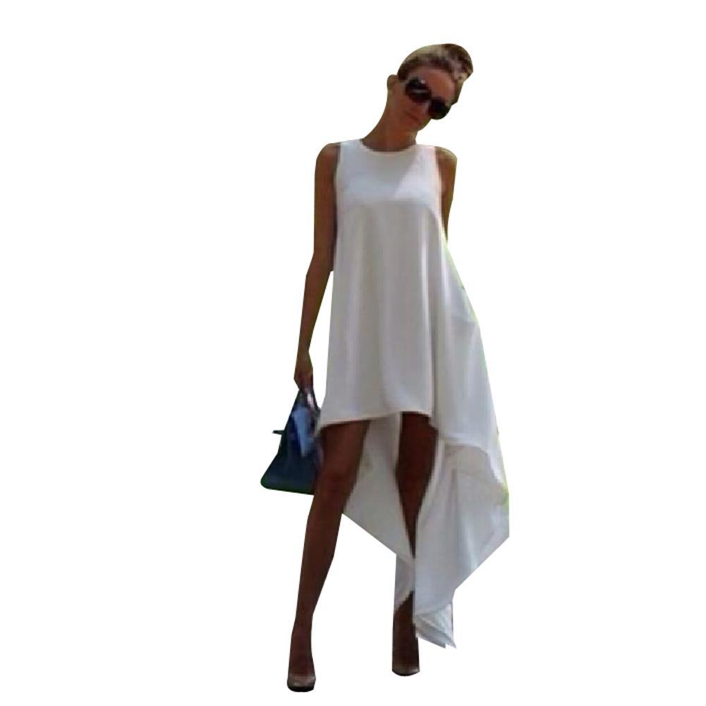 White Women Dress Beach Summer Dress Casual See Through ...