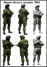 MODERN RUSSIAN SOLDIERS (2 Model) 1/35 Resin Model Kit Free Shipping
