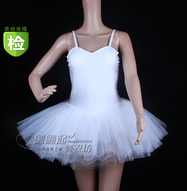 Ballet soft tulle dress dance leotard clothes costumes white swan clothing(China (Mainland))