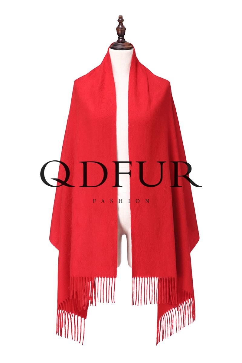 QD FUR Top Sale Solid Tassel Scarf 2016 Really Cashmere Poncho shawl Cape Winter Wraps Pashmina QD82044(China (Mainland))