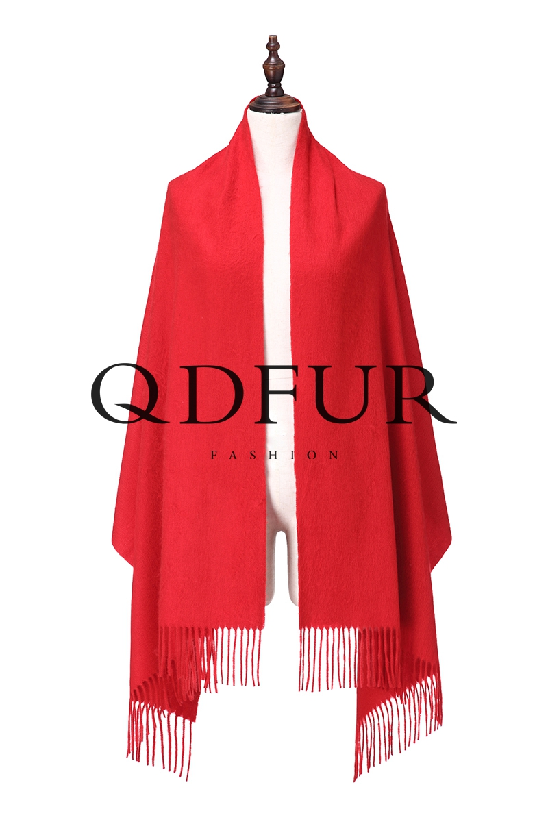 QD FUR Top Sale Solid Tassel Scarf 2016 Really Cashmere Poncho shawl Cape Winter Wraps Pashmina QD82044(China (Mainland))