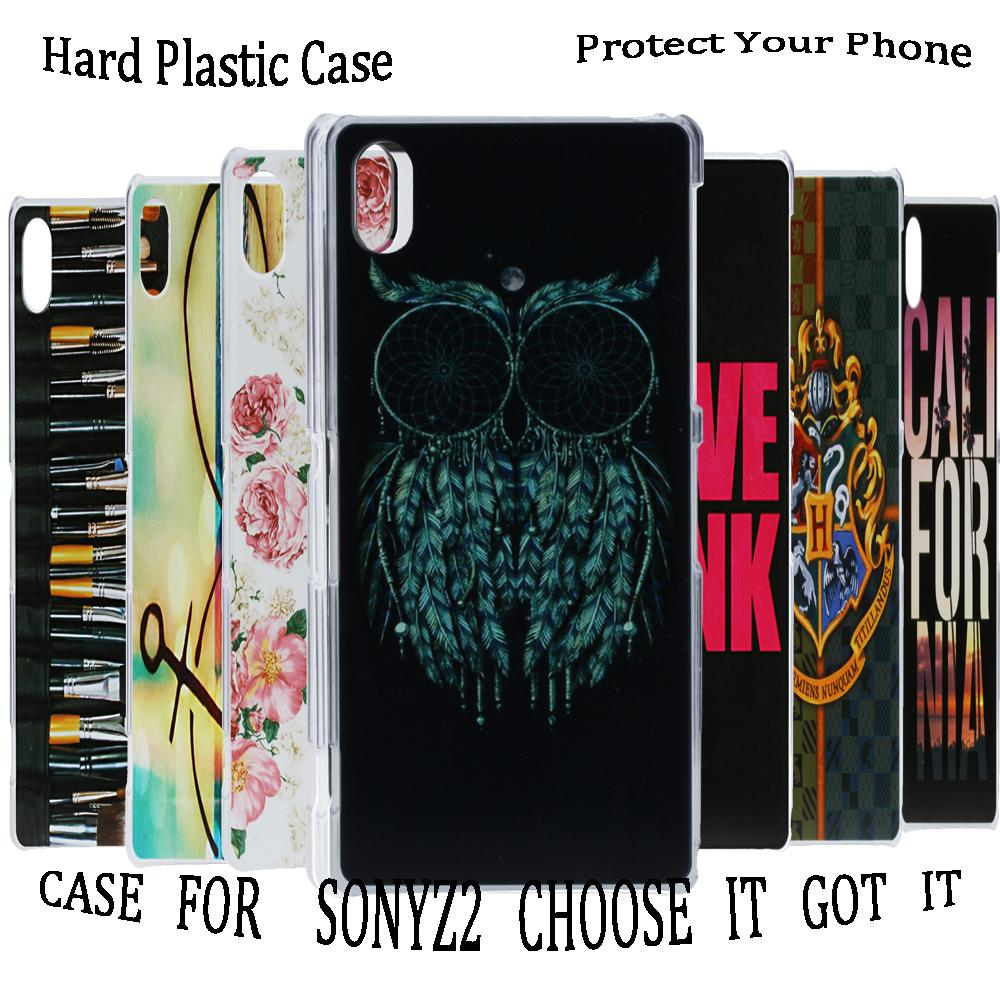 Case For Sony Xperia Z2 D650 D6503 L50W Animal Design Kids Men High Quality Cool Owl Plastic Durable Hard Mobile Phone Cover(China (Mainland))