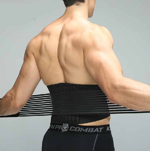 Sports protection belt lumbar disc sports fitness basketball brace male Ms. breathable waist belt M/L(China (Mainland))