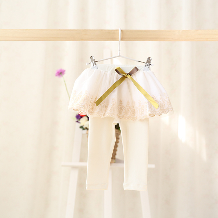2015 New baby girls princess pantskirt children leggings cotton bow embroidery 2 colors 5 pcs/lot wholesale 2379<br><br>Aliexpress