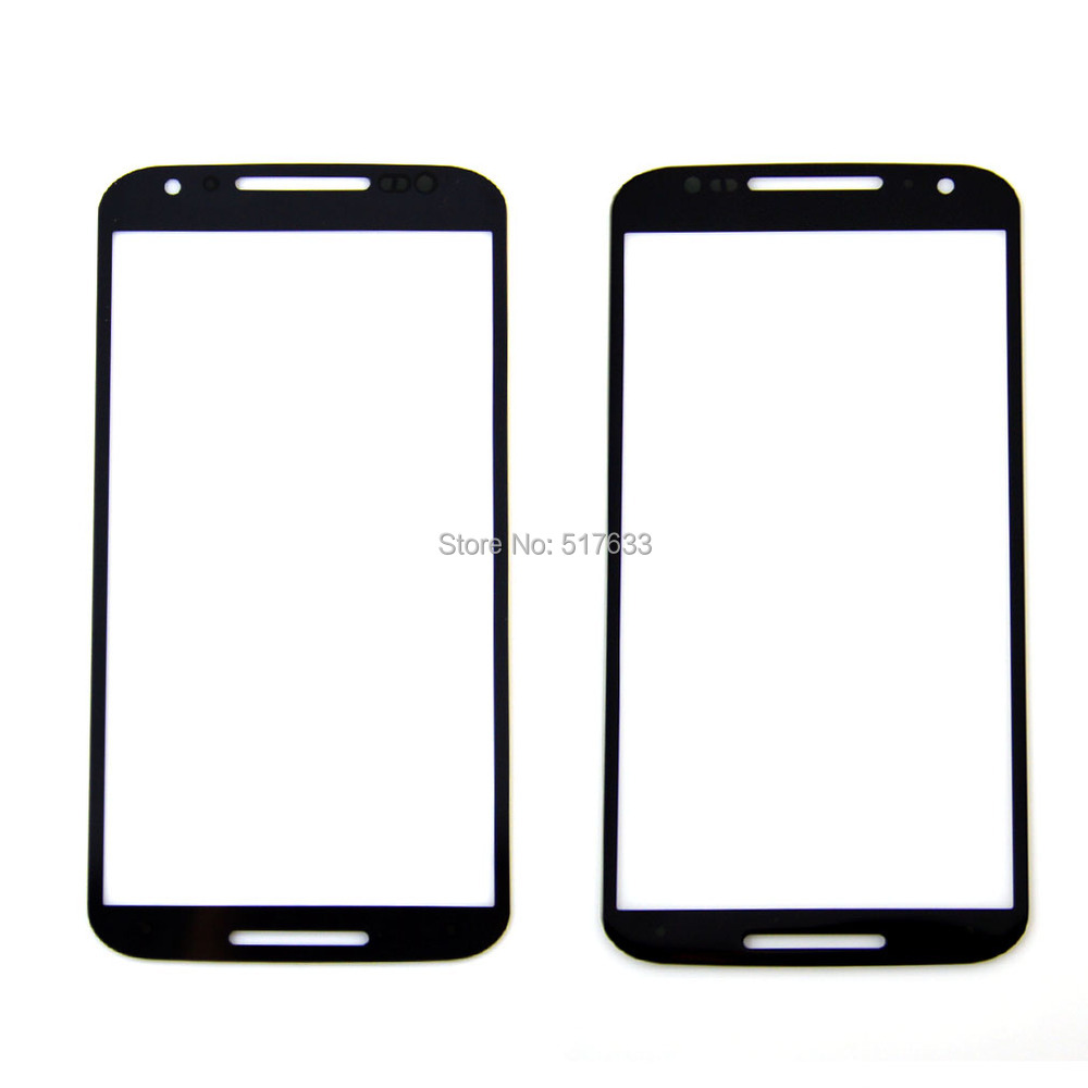 for Motorola Moto X2 xt1097 Front Outer Screen Glass Replacement for Moto X2 2nd Gen Front Screen Black,freeshipping+track No.