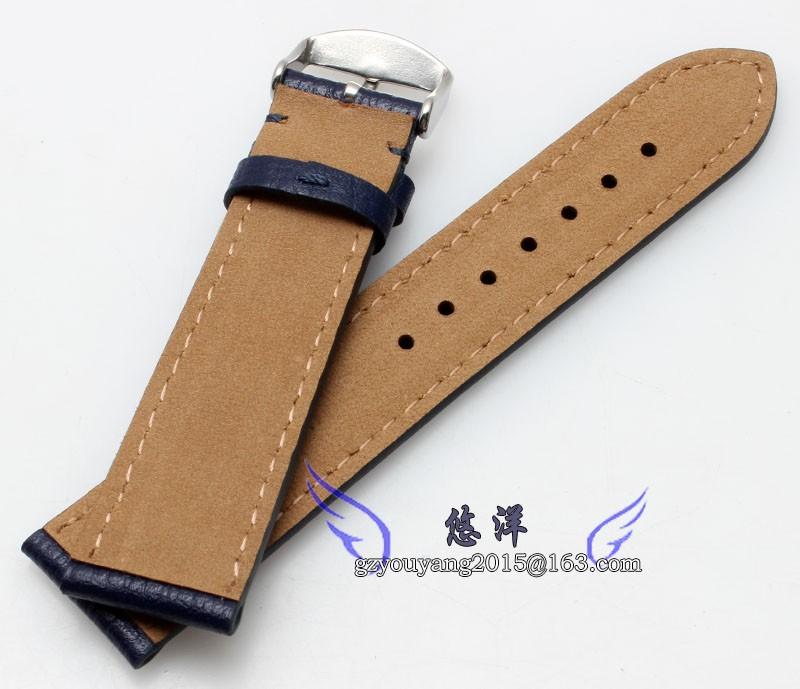 Тонкие линии ремень неторопливо естественный телячьей кожи кожаный ремешок 20 | 22 мм высокое качество черный коричневый контракт и щедрый