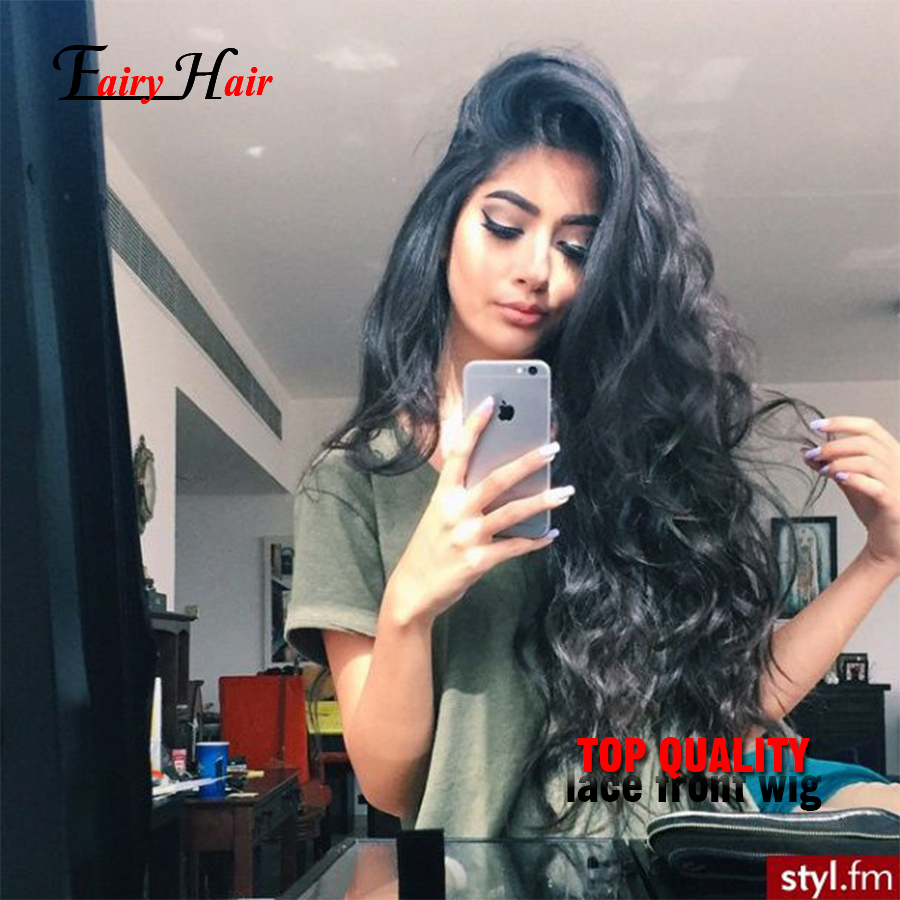 Cheap Sale High Quality Syntetic Hair Super Wave Wigs Long Black Wigs Heat Resistant Synthetic Lace Front Wigs Free Shipping<br><br>Aliexpress