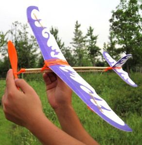 FD1924 Durable Practical DIY Airplane Aircraft Model Powered by Rubber Band Toys 1pc(China (Mainland))