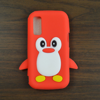 1pcs Colorful Cute Cartoon Penguin Silicone Soft Protective Back Case for Samsung S5230 S5233 + free gift