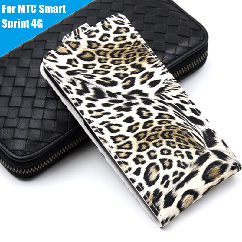 Leather case Wallet style cover Flip Telephone Holder and Cell phone shell For MTC Smart Sprint 4G Mobile phone bag 8 Colors(China (Mainland))