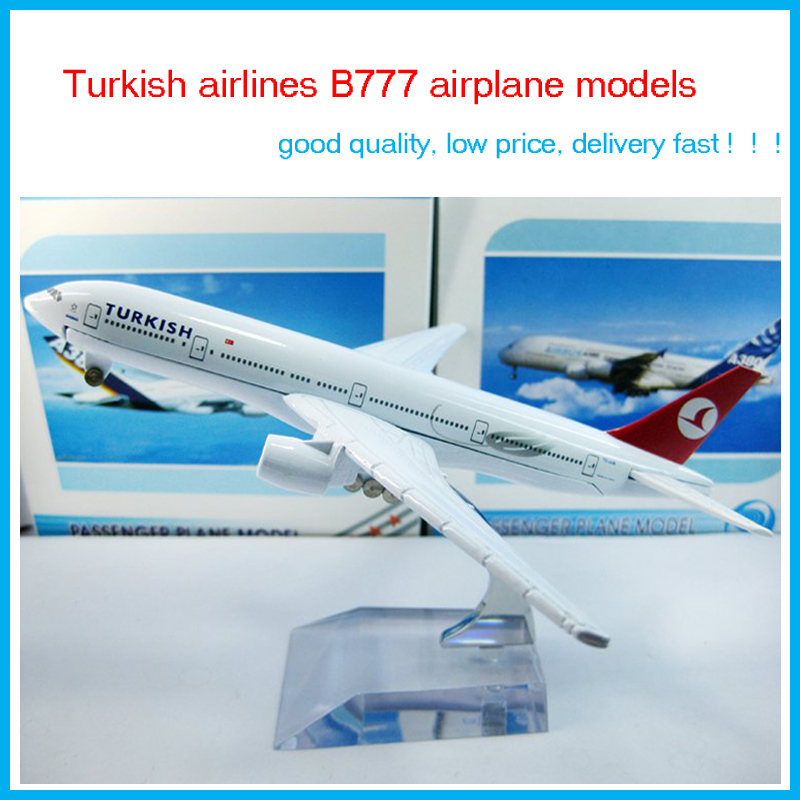 Cheerleading Craft Souvenir Airlines plane model wholesale, The Turkish airlines B777,16cm, metal airplane models,airplane model(China (Mainland))