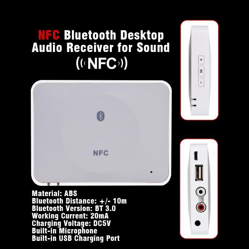 Wireless Bluetooth Music Receiver Hifi Stereo Audio System Music Adapter NFC Bluetooth Receiver For iPhone iPad Notebook(China (Mainland))
