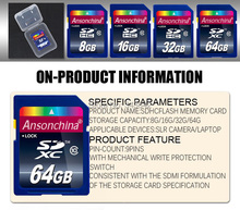 100% Real capacity 32GB SDHC 64GB 8GB 16GB SD Class 10 SDXC Memory Card 8gb Secure Digital SD Card High Speed With Camera Laptop(China (Mainland))