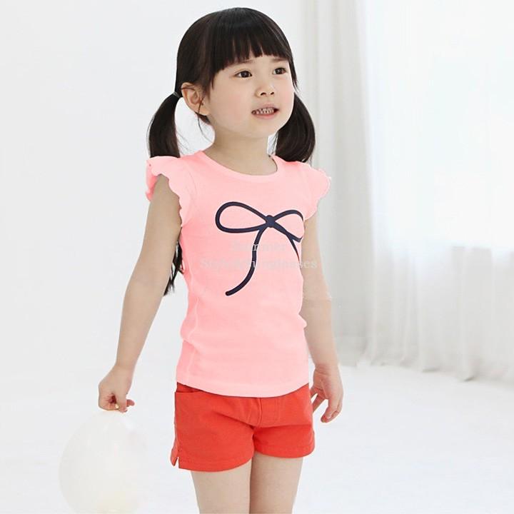 Bowknot Shirt Toddler Girls Bowknot Shirt
