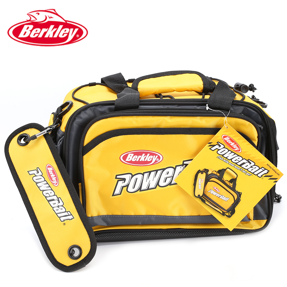 Original Berkley Powerbait bag Multifunction Fishing Bag for Lure collection Yellow fishing tackle bag with 3 tackle boxes(China (Mainland))