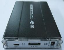 USB 2.0 SATA 2.5 HD Hard Drive Disk Case Enclosure Black Color(China (Mainland))