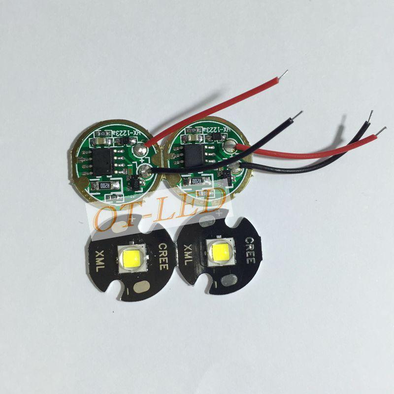 2 sets Cree XML2 LED White Color 10W LED Emitter Chip 16MM +DC3.7V 2.5A LED Driver for flashlight parts(China (Mainland))
