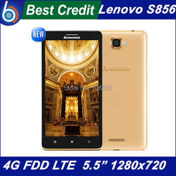 New Original 4G Phone LTE-FDD Lenovo S856 Snapdragon 400 Quad Core 1.2GHz 5.5 inch IPS Screen Dual SIM 8.0MP GPS WCDMA 2100 /Eva