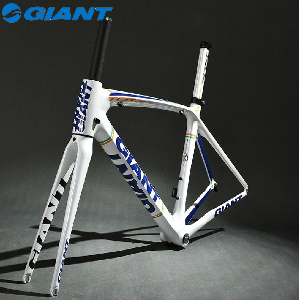 2014 GIANT TCR Composite T-600 Carbon Original 700C Road Bike Bicycle Parts Fork Frame Set Size M 500mm White(China (Mainland))