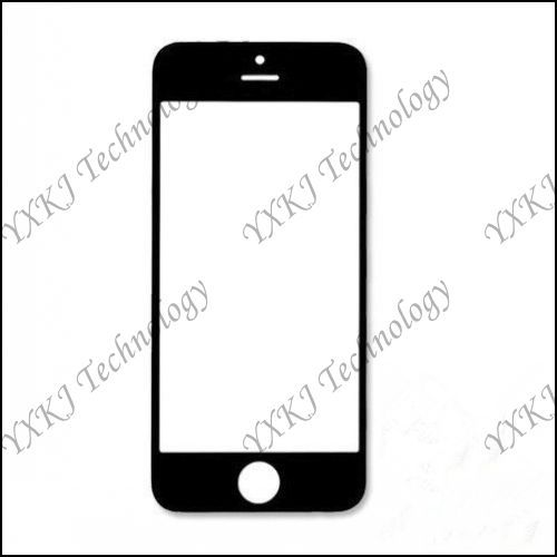 For iPhone 5S front Glass Lens Touch Panel Replacements Parts White/Black free shipping 1pcs(China (Mainland))