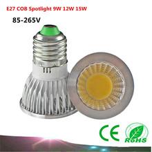 1PCS E27 COB LED Bulb 9W 12W 15W AC85-265V /110V/220V COB Spotlight LED Lamp(China (Mainland))