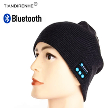 Buy TIANDIRENHE Bluetooth Smart Cap Headset Music Hat Soft Beanie Knitted Cotton Wireless Speaker Sports Headphone Mic iPhone for $9.00 in AliExpress store