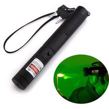 Top Laser 303 Laserpointer Green High Powered Burning Laser Pointer Lazer Presenter Puntero Verde Caneta Laserpointer + Safe Key