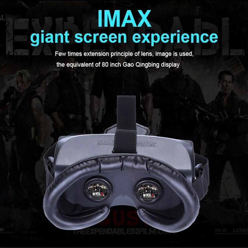 Virtual Reality VR Box 2D 3D Video Glasses 80'' Mobile Phone Glasses 3D