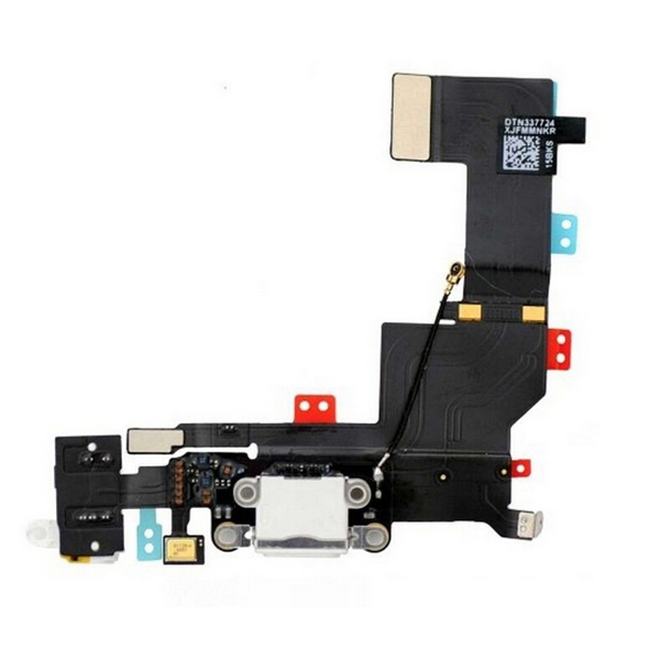 WHITE FOR iphone 5S original New Dock Connector USB Charger Charging Port Flex Cable Replacement Part - Magic Electronic store