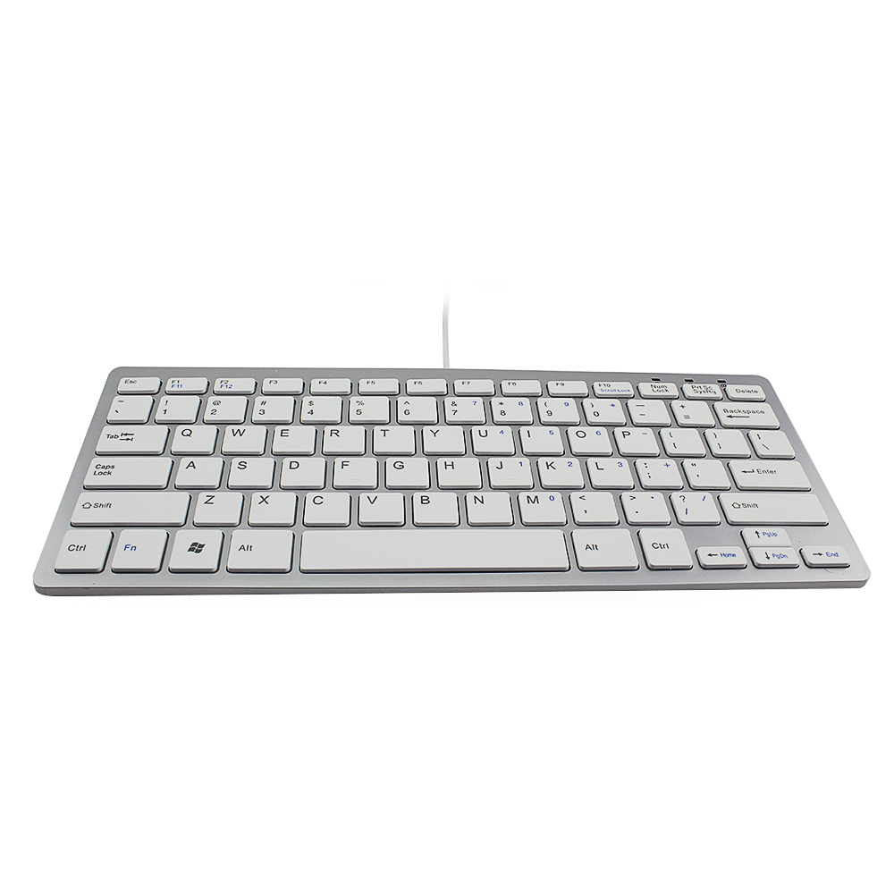 Super Thin Mini Wired Keyboard for Desktop PC Android Windows ios Telecommuting Gaming(China (Mainland))