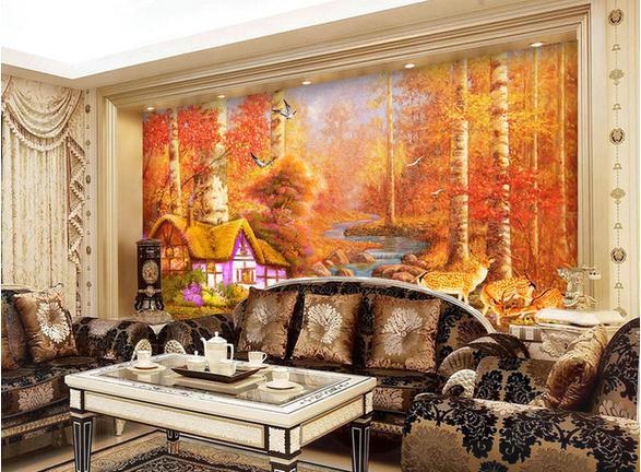 P Swan Ltd Custom wallpaper Swan deer