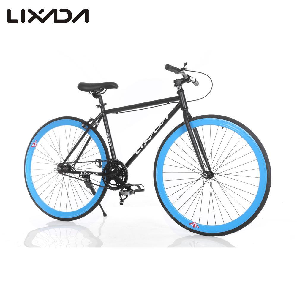 "Lixada High-configuration 26"" Carbon Steel Single Speed Bike Fixed Gear Bicycle Fixed Bike Rear caliper brake(China (Mainland))"