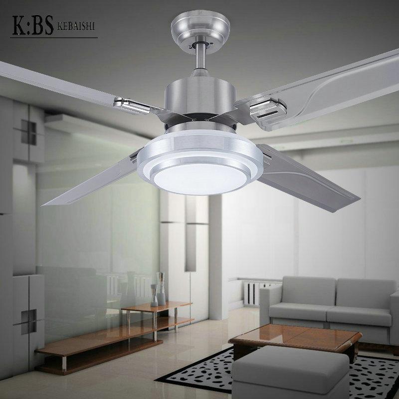 Здесь продается  LED lighted restaurant bedroom ceiling fan light fan lights simple and stylish modern stainless steel chandelier leaf  Свет и освещение