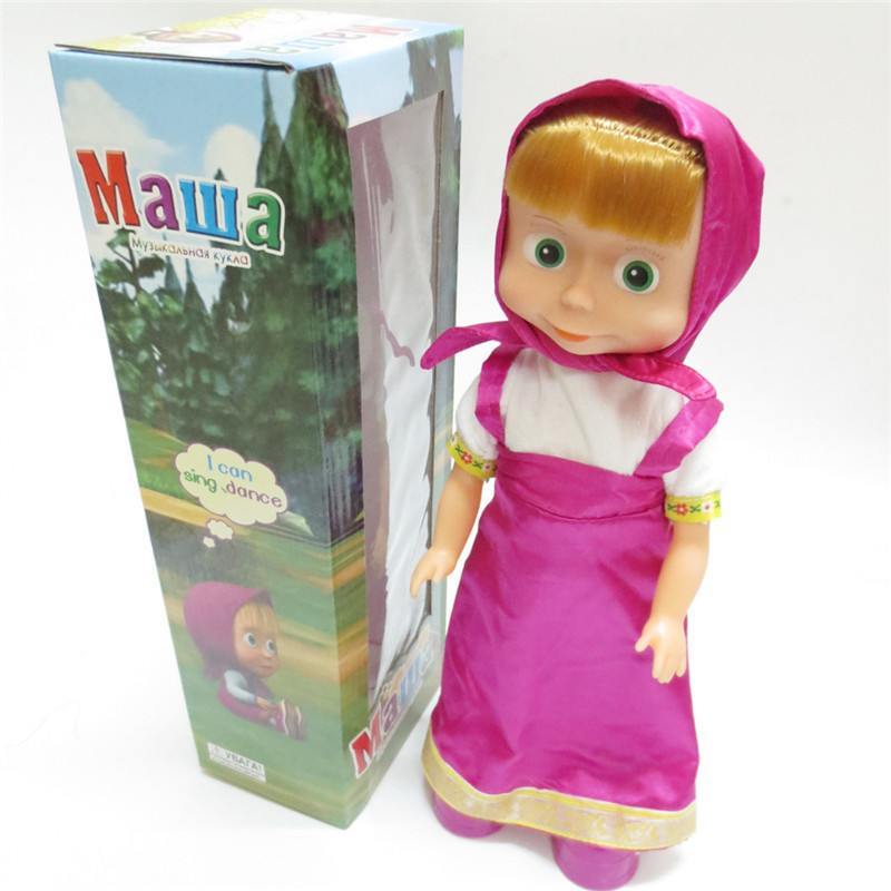 Russian Electric Toy Martha And Bear Russian Hot Sale Children's Toys Electric Dance Music Martha Russian Doll(China (Mainland))