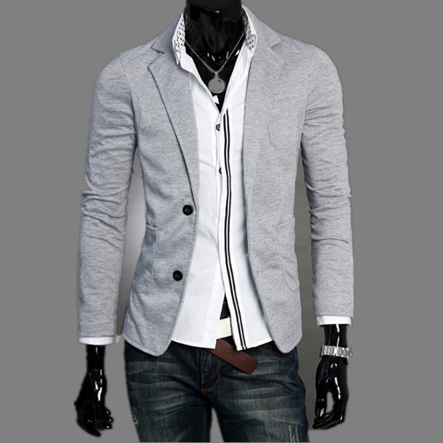 Men's Fashion Suit Jacket Coat Knitted Fabric Soft And Comfortable JK-0099(China (Mainland))