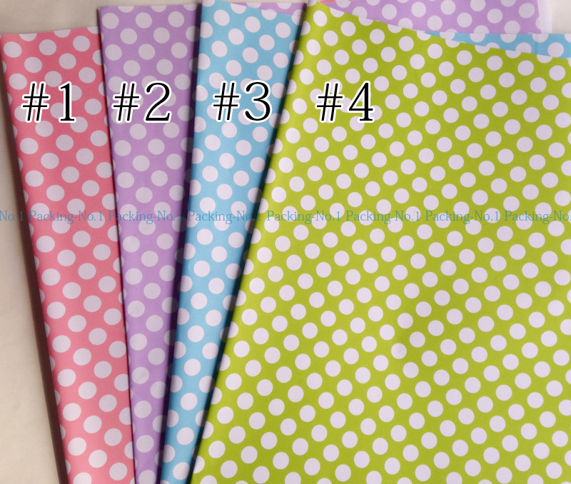 50 pcs/lot single colour 52 x 75 cm large dots cute design girls gift packaging paper wrapping paper(China (Mainland))