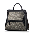Famous Brand 2016 New Fashion Crocodile Print Backpack Women Geometric Daypack Lady Designer Casual Travel Bag