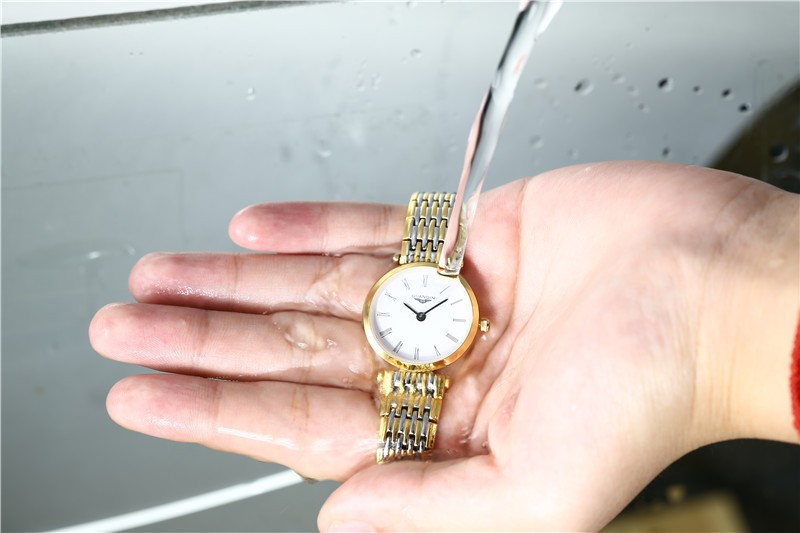 Люксовый Бренд GUANQIN Полный Нержавеющей Стали Мужчины Warch Кварцевые Платье Наручные часы Водонепроницаемый Мужской Деловой Часы мужские Подарок