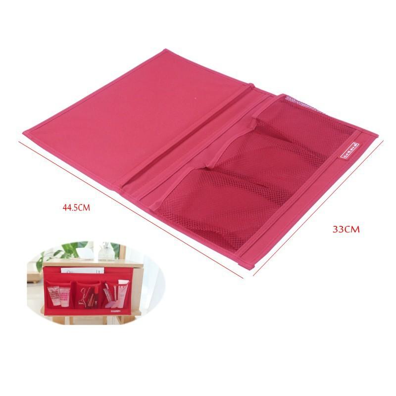 Novelty Disktopside Bedside Pocket Bed Side Organizer Hanging Bag TV Remote Cell Phone Book Magazine Zakka Storage Pouch(China (Mainland))