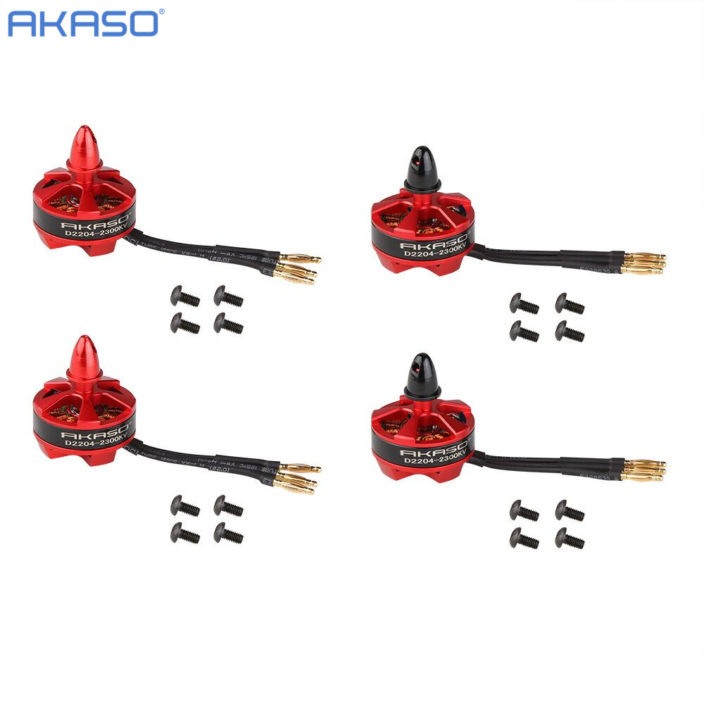 AKASO 4x D 2204 2300KV 4pcs Brushless Motor RC for Fpv QAV250 ZMR250 QAV210 Robocat 270 QAV ZMR 250 Auadcopter Motor kit parts(China (Mainland))