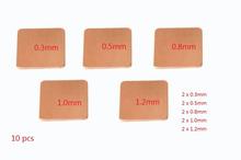 10 teile/los 15mm x 15mm Kühlkörper Kupfer Shim für Laptop GPU VAG Pad thermische Pads Kühlung Kühler(China (Mainland))