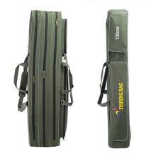 1.3 meters 1.4 meters 1.6 meters plus size thickening canvas fishing rod bag fishing tackle pole package bag 3 layer fishing bag