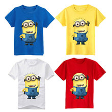 Cartoon figure children minions clothes costume children s clothing t shirts for Kid s BOXXTY